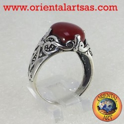 ring with carnelian