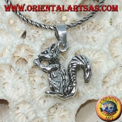 Pendant made of 925 silver the squirrel