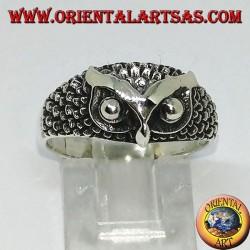 Серебряное кольцо с головой совы (маленькое)