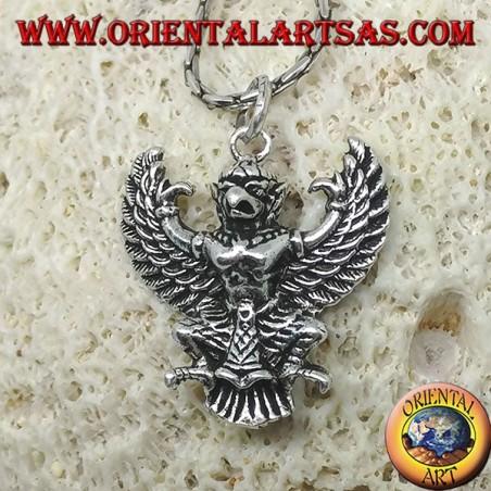 Silver pendant of Thai Garuda Phra Khrut Pha