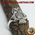 Silver ring with owl (whole)