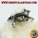 Silver ring, gekko gecko shape (small)