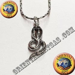 Ciondolo in argento serpente Cobra