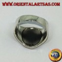 Sri Chakra Yantra Ring in Breitband Silber