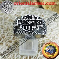 harley davidson anello in argento