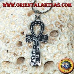 Egyptian cross pendant Ankh symbol of eternal life in silver