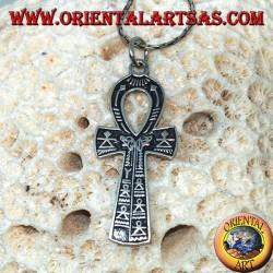 Кулон египетский крест Анк Символ вечной жизни в серебре