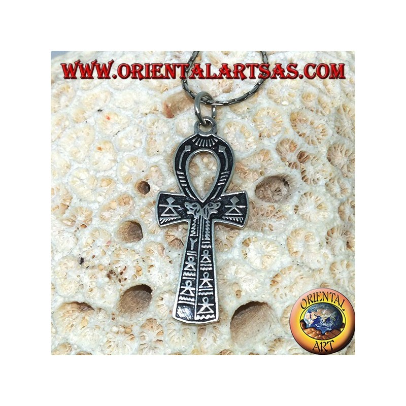 Egyptian cross pendant Ankh symbol of eternal life in silver