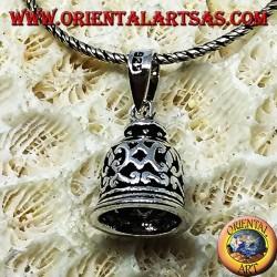 Silver pendant, little bell