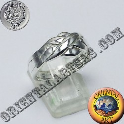 Turkish faith ring puzzle silver four-ring available in all sizes