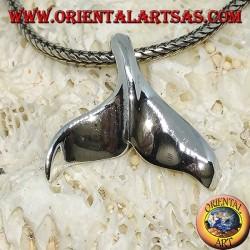 Ciondolo in argento a forma di coda di balena