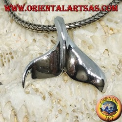 Silver pendant in the shape of a whale's tail