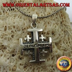 Серебряный кулон Иерусалимский Крест рыцарей Гроба Господня