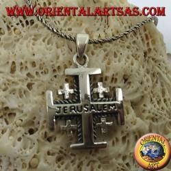 Silberanhänger Jerusalem Kreuz der Ritter des Heiligen Grabes