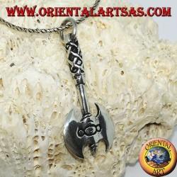 Подвеска из серебра викингов двойной топор