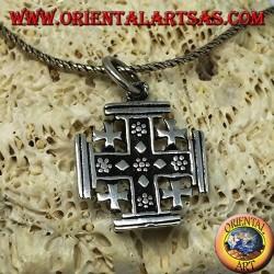 Ciondolo in argento Croce dei Cavalieri del Santo Sepolcro, croce di Gerusalemme