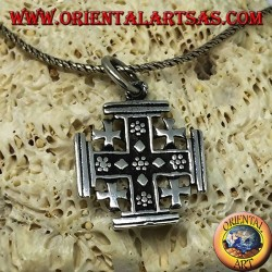 Silver pendant Cross of the Knights of the Holy Sepulcher, Jerusalem cross