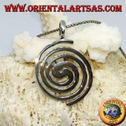 "Silver pendant of the Galactic Spiral ""Pànta rèi"""