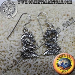 Silver Earring Dragon