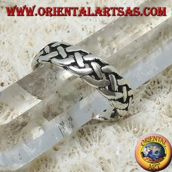 Серебряное кольцо для ног или для фаланги с кельтским узлом
