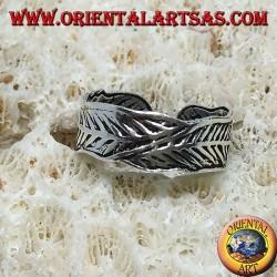 Anello in argento per piedi o per falange , piume