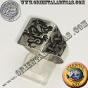 anello sigillo drago con nodo celtico in argento