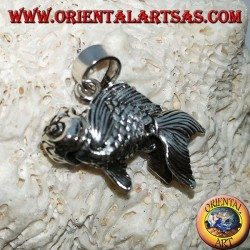 Silver goldfish mobile pendant