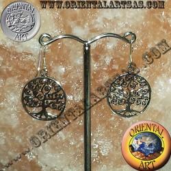 orecchino albero della vita in argento