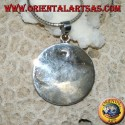 Silver pendant set with a red round coral (coral) set
