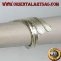 Handmade rolled silver leaf ring