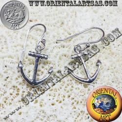 Orecchini àncora in argento 925