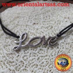 Bracciale in argento Love