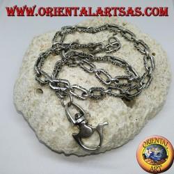 Catena spinata portachiavi in argento