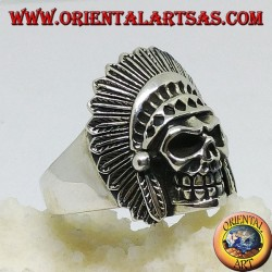 Anello in argento teschio indiano