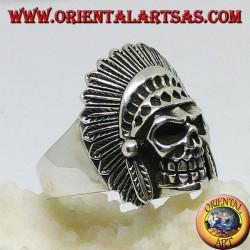Indian skull silver ring