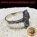 silver crucifix ring