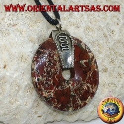 Jasper pendant (30mm donut) with 925 ‰silver hook