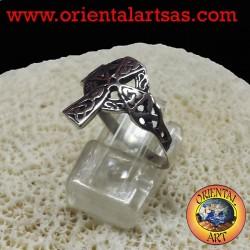 Anello croce celtica in argento