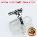 Anello in argento con croce celtica
