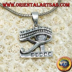 Silberauge Anhänger des Horus (Udjat)