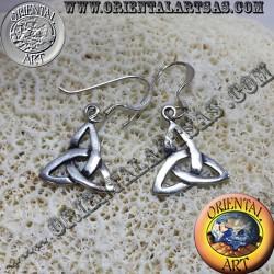 Boucle d'oreille noeud celtique triquetra