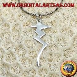 Lightning silver pendant, symbol of power and danger
