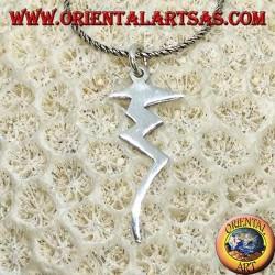 Серебряный кулон с молнией, символ власти и опасности