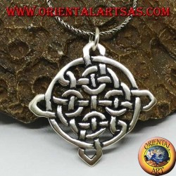Pendant in silver Tynan Celtic knot, amulet of protection from evil