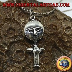 Ciondolo in argento mamma Africa dea della maternità'