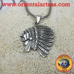 la cabeza colgante de plata india D'Latina
