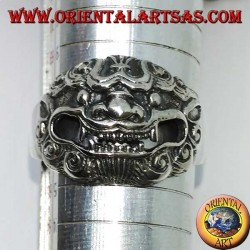 Barong silver ring, the king of spirits