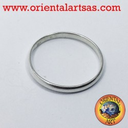 silver wedding ring 2 mm stop ring