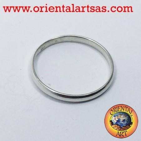 fedina in argento 2 millimetri ferma anello