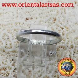 silver wedding ring 2 mm stop ring